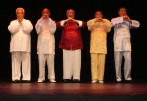 Os 5 Grandes Mestres do Tai Chi Chuan no Simpósio Internacional, em Nashville, 2009