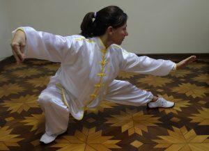A Instrutora de Tai Chi Chuan Valéria Sanchez
