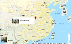 Localização da Montanha Wudang, onde teria surgido o Tai Chi Chuan