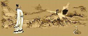 A luta do grou e da serpente teria inspirado o surgimento do Tai Chi Chuan