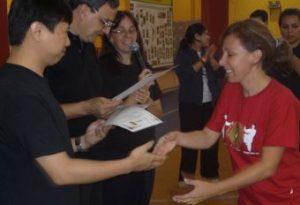 Valéria Sanchez no Seminário Internacional de Tai Chi Chuan em São Paulo, 2011